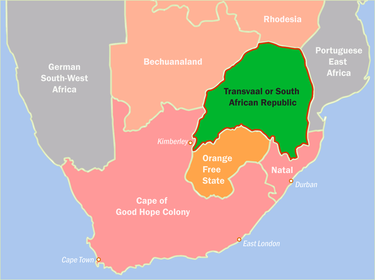 States in Southern Africa 1900